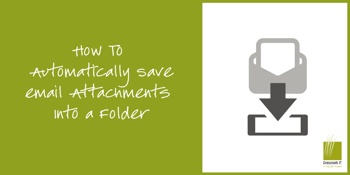 How To Automically Save Email attachments Into a Folder
