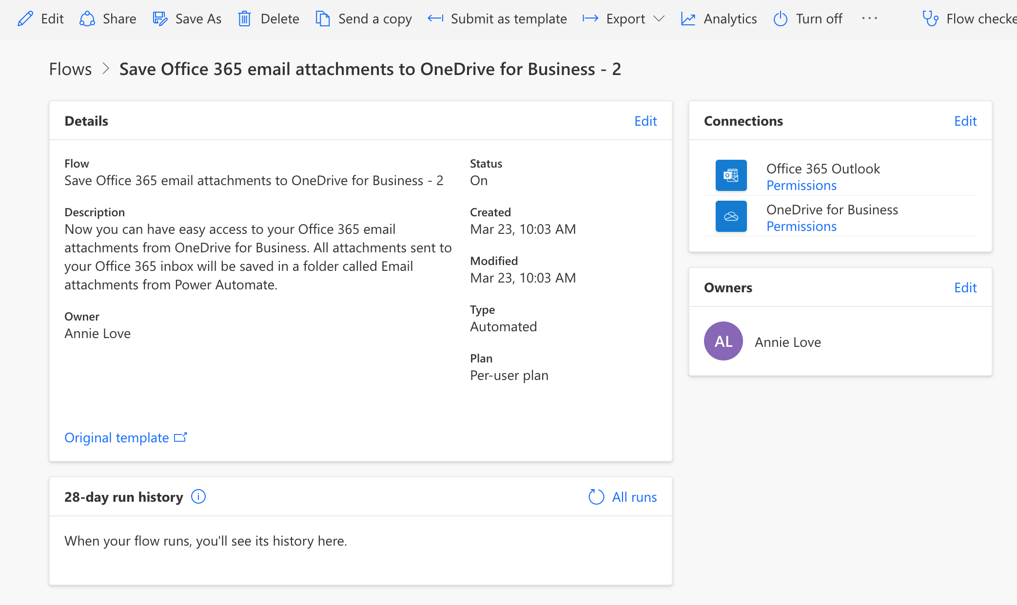Grassroots IT Power Automate confirmation screen