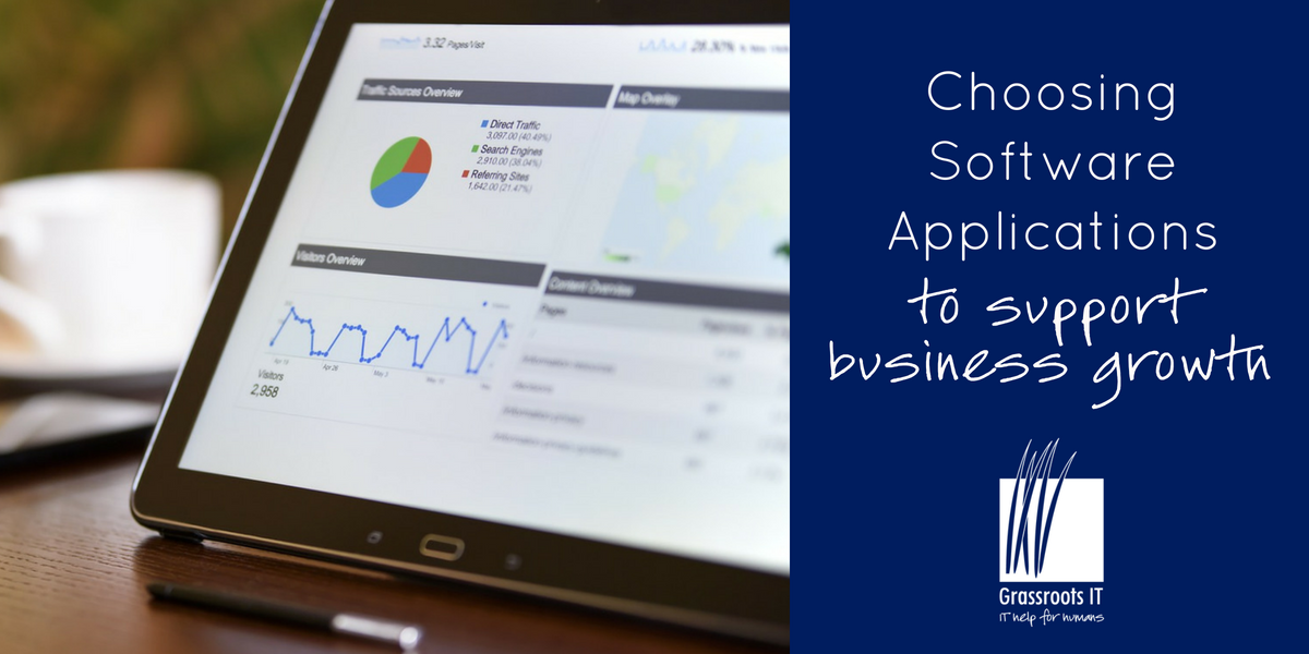 Choosing Software Applications to support business growth