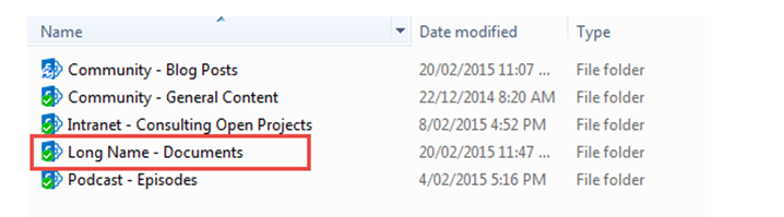 Now you can see the actual document library name