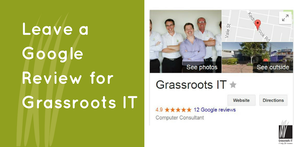 Leave a Google Review for Grassroots IT
