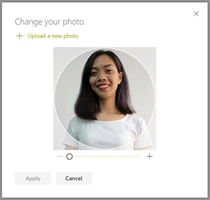 Upload your new profile photo